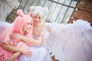 Princess Chibiusa and Queen Serenity - Sailor Moon by oShadowButterflyo