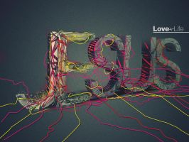 Jesus love+life 3 - Wallpaper by mostpato