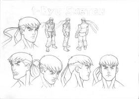 Ryu Sketch by robertojales