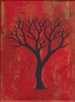 FALL Tree Branches Painting by ArtbySaide