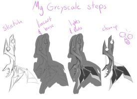 My greyscale steps by coolj229