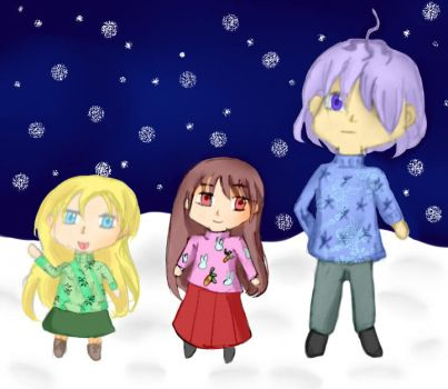 Ib-Trio in sweaters by heta-chan