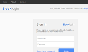 Sleek Login Theme (free) by UJz
