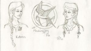 The Mockingjays and Prim by GaaBByy