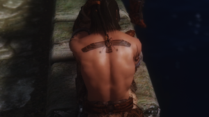 Farvahar tattoo for Skyrim by m14aria