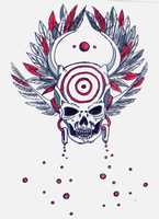 Feathered Skull by Pentoculus