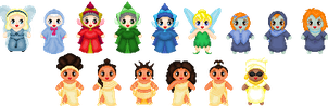 Little Disney Mythical Ladies by Anzeo