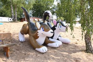 Inflatables on the beach 1 by schorse1000