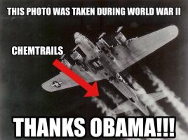 WW2 Chemtrails Thanks Obama by Valendale