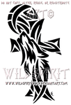Howling Wolf And Cross Design by WildSpiritWolf