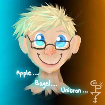 Apple? Bagel? Unicron? by CrepeThePancake