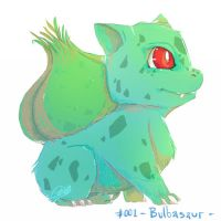 PKMN 001 Bulbasaur by Zhiibe