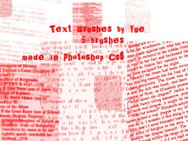Yue's Text Brushes - PS CS8 by yue