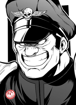 M. Bison - Street Fighter by TheFresco