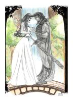 Aragorn and Arwen by AndyIomoon