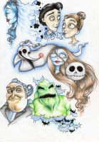 nightmare before christmas and corpse bride by herzeleid11
