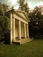 Doric Temple in Autumn1 by VIRGOLINEDANCER1