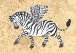 Little winged Zebra by saraquarelle