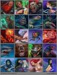 Portraits of fantasy characters. by Igor-Grechany-Ostrov