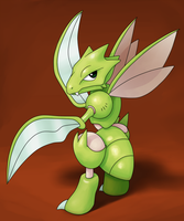 Scyther by IndigoWildcat