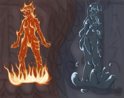 Fire and Water by FrigidMan