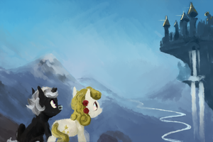 Yellowstar and Broken Horn goes to White Castle by spectralunicorn