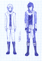 Allen,Lavi-outfits for Laven by Minmuchan