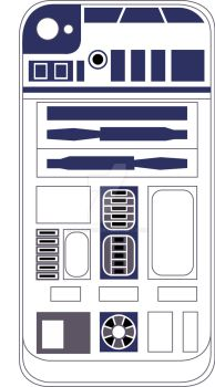 R2D2 iPhone 4 skin by Injust07
