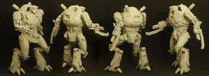 Mecha-Troop-1-Action-Pose by jodprak