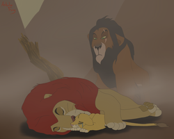 Mufasa's Death by AnkokuFang