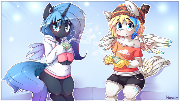 Commission: Rescue Pony and Cirrus by t-Hoodie