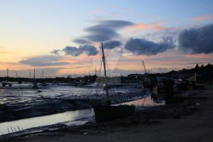 Sunset in Old Leigh II by Pzychonoir