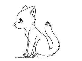 Feline Lineart by neko-fishy