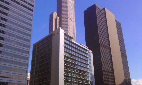 Chicago Cityscape 1 by pluggo