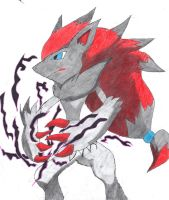 Zoroark's Dark Pulse by LizardonEievui13