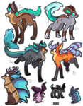 5 FREE aquatic adoptables CLOSED by Roxalew