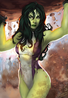 She-Hulk by Forty-Fathoms