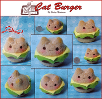 Cat Burger Plushie (For sale) by KindlyGrim