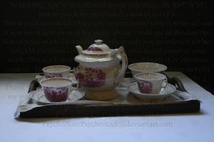 Tea set by PzychoStock