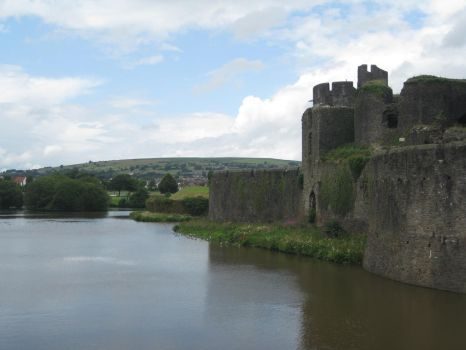 Caerphilly Castle 10 by Hrivalasse-stock