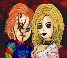 Chucky and Tiffany by Deadlydollies13