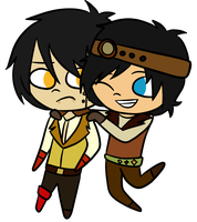 Oscar and Oliver by NotTheWitch