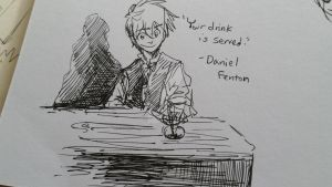 Danny the bartender random sketch by mimidan