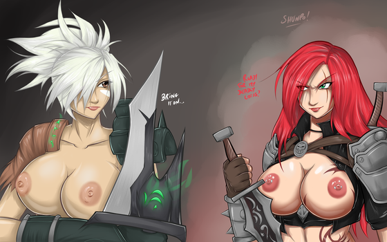 Riven X Kata - topless ver. by Shadney