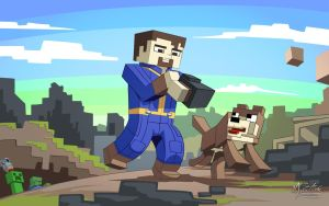 Minecraft x Fallout 4 by mysticalpha