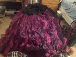 Designer Ursula Skirt In Progress by FatalCosplays