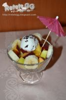 Fruit salad with ice cream by DanutzaP