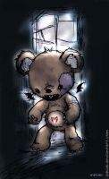 scary teddy by iNkubi