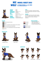 Nic Wolf Model-Sheet 2013 by LupusNic