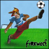 COMMISION - Soccer Firewolf by Sanoure